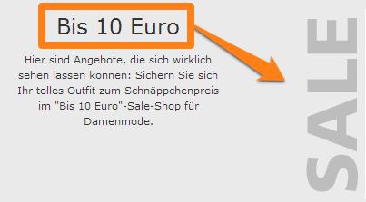 bis 10 Euro SALE bonprix ch