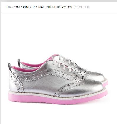 Silberne Schuhe H&M.ch