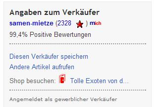 Verkäuferhinweis ebay.ch