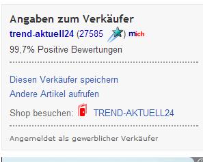 Verkäuferinfo SKYLANTERN ebay.ch