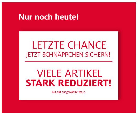 letzte chance C&A.ch