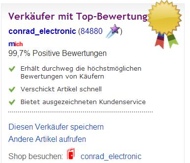 verkäuferinformation Stimmungslicht ebay.ch