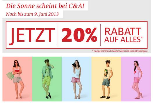 C&A 20 Prozent Aktion